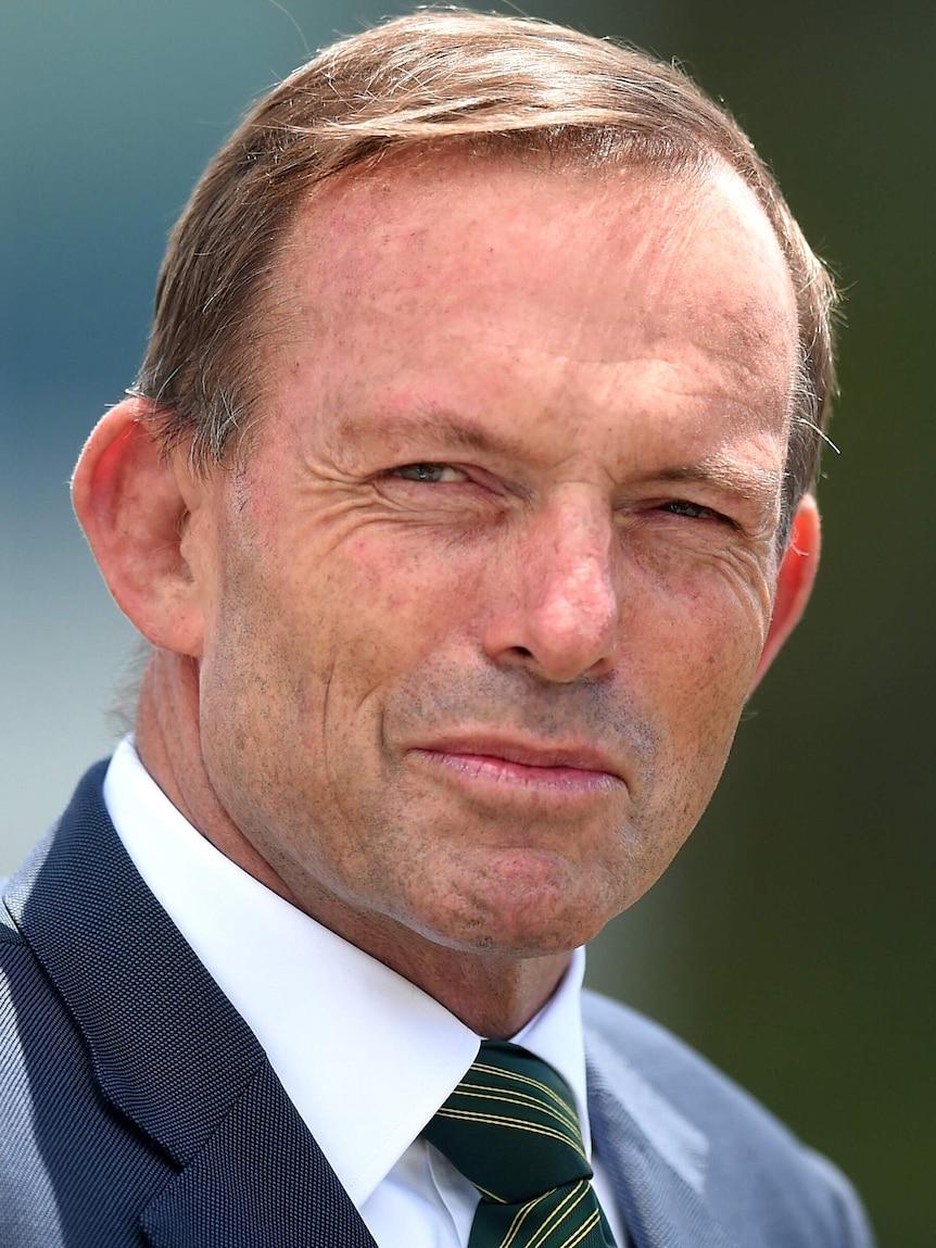 Tony Abbott at PM's XI match in Canberra