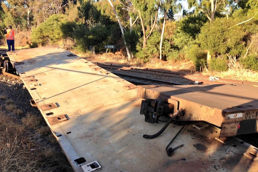 Several freight carriages derailed in Adelaide