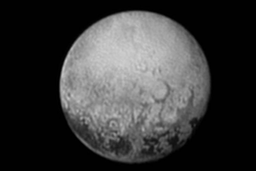 This image, taken early the morning of July 11, 2015 from the New Horizons spacecraft shows Pluto in never-before-seen detail.