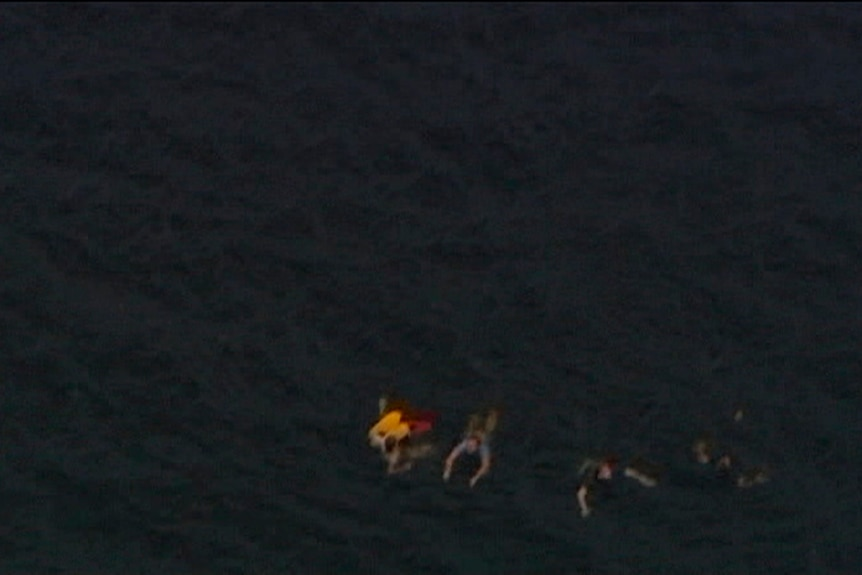 Witnesses say many youth tried to swim to safety from the island.
