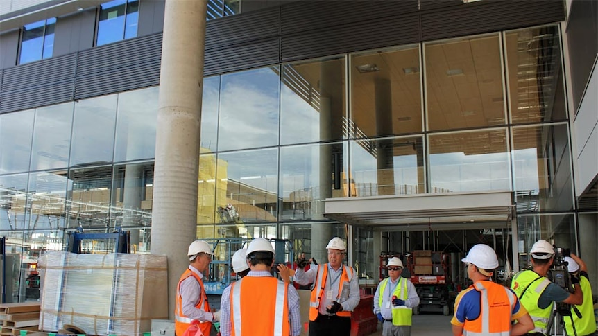 Entrance of the Sunshine Coast University Hospital which is due to open in April 2017.