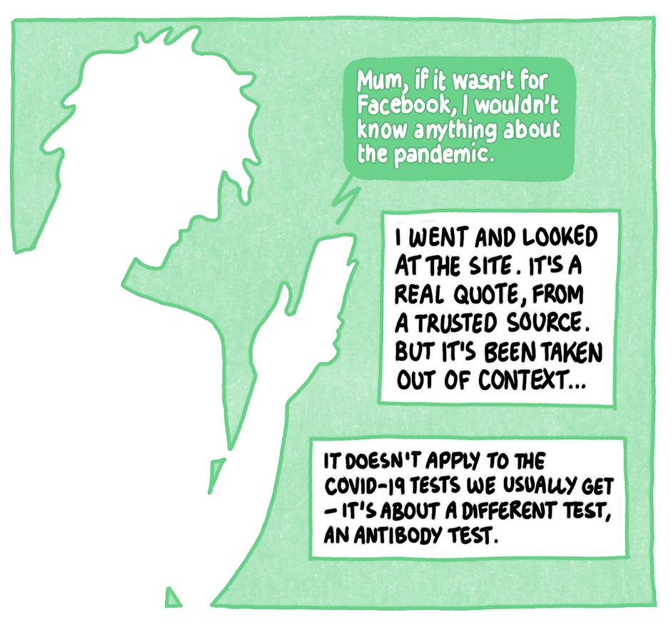 Comic scene 8. Read the transcript below.