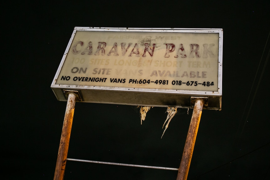 A blacked out sign.
