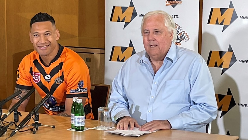 Israel Folau announces rugby league return for Southport Tigers in move backed by Clive Palmer – ABC News