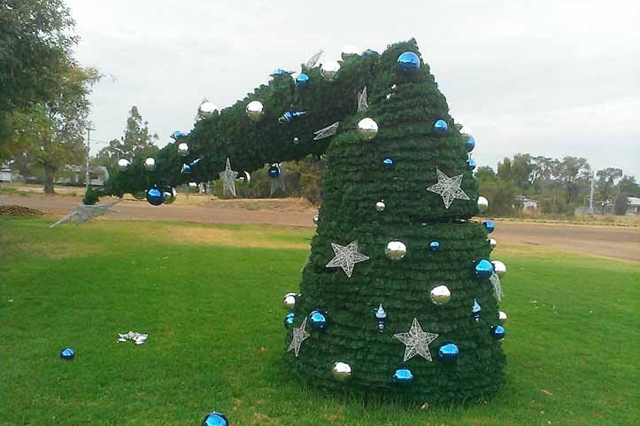 Police will issue a caution to a 15-year-old boy accused of snapping a community Christmas tree on the Western Downs.