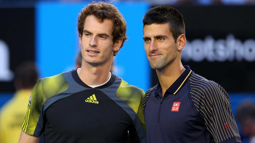 Murray and Djokovic smile for the cameras