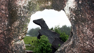The collection of monoliths has been described as the Amazon Stonehenge.