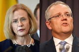 Composite image of Queensland's Chief Health Officer Jeannette Young and Prime Minister Scott Morrison