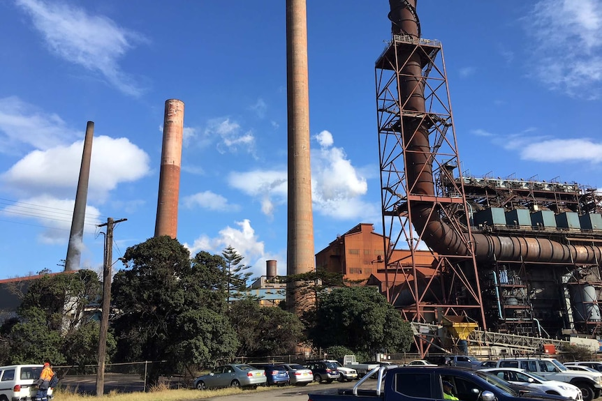The steelworks at Port Kembla in NSW.