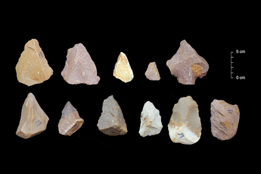 Middle Stone Age tools.