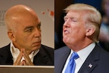 A composite image of Michael Wolff and Donald Trump.