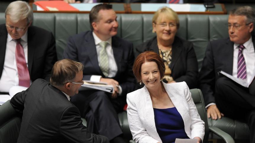 Prime Minister Julia Gillard during Question Time