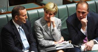 Tony Abbott, Julie Bishop and Peter Dutton