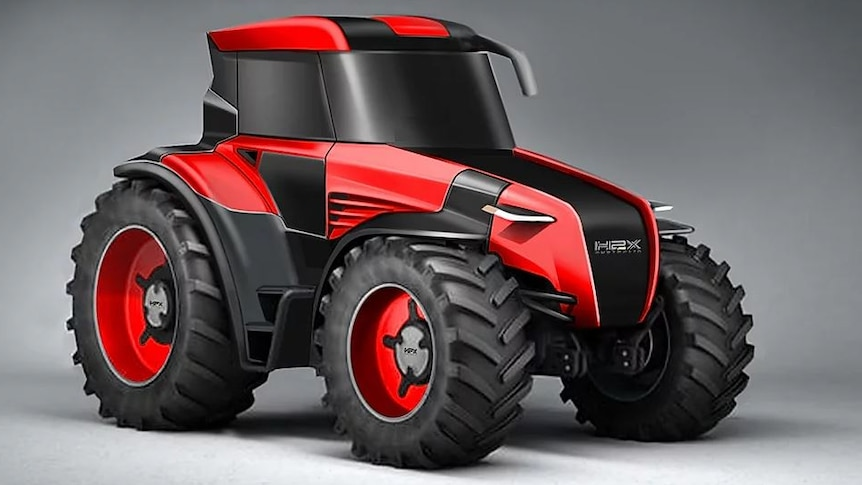 A red tractor