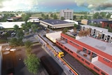 Illustration of planned new train station for Port Adelaide.
