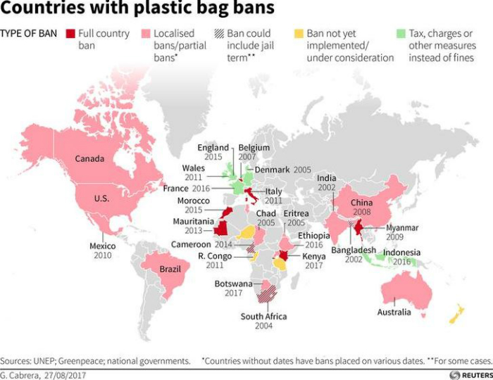 A highlighted map shows the 40 countries which have already rolled out the laws
