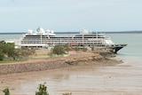 The Azamara Quest cruise ship berthed in Darwin
