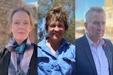 Three regional leaders Indigo Shire Council Mayor Jenny O'Connor,  Member for Murray Helen Dalton, Albury Mayor Kevin Mack