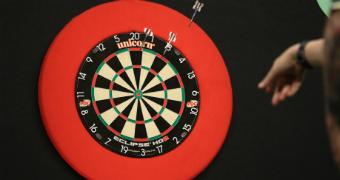CUSTOM 360x180 dartboard