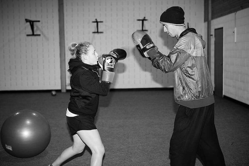 Erika Creely training with Gavin