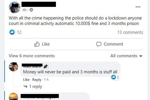 Social media complaints about crime in Kalgoorlie