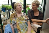 Cate Faehrmann and Loredana Alessio-Mulhall in a pro-euthanasia campaign video