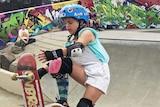 Anneka Lewis skating