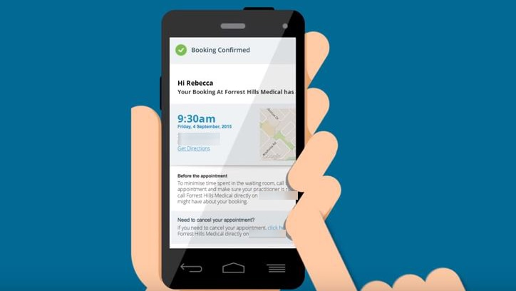 An animation of a hand holding a phone.