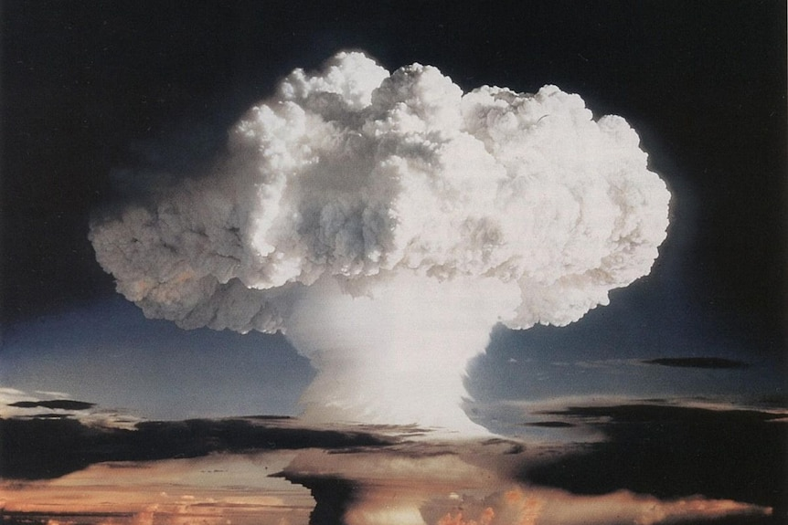 The mushroom cloud from the Ivy Mike nuclear test