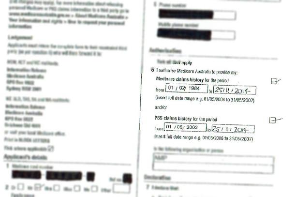 Pre-filled Medicare documents