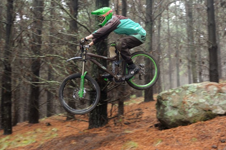 Mountain bike trails currently exist in pine forests around Orange, but will be cleared in 3 years time when logging occurs.jpg
