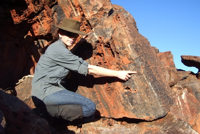 Abigail Allwood in the Pilbara