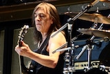 Malcolm Young from AC/DC performing in 2010.