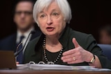 Chair of the US Federal Reserve Janet Yellen testifies