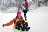 Mount Buller residents enjoy first snow fall of winter
