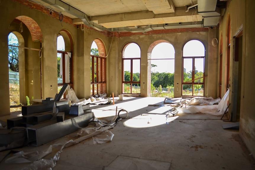 Inside the incomplete Taj on Swan in 2013.