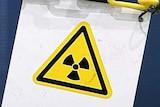 A warning sign for radioactive materials