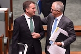 Briggs shares a moment with Malcolm Turnbull