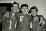 Des Webb, Keith Howard and Cliff Robinson after the 1959 reserve grade grand final.