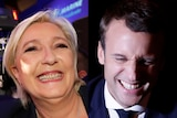 Both Marine Le Pen and Emmanuel Macron gave rallying speeches to their supporters after the vote.