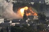 Smoke rises form Kobane after US-led airstrikes