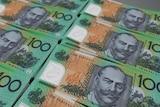 Rows of Australian hundred dollar bills.