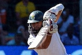 South Africa's Hashim Amla plays a shot during the second Test against Australia at Port Elizabeth.