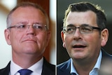 Side by side photos of Scott Morrison and Daniel Andrews