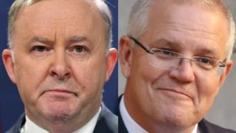 Composite of Anthony Albanese and Scott Morrison