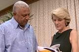 Julie Bishop meets with Frank Bainimarama