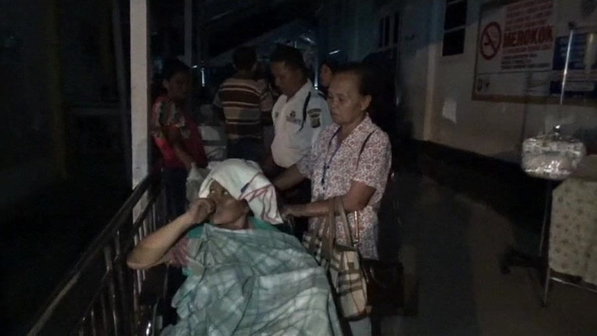 Hospitals were inundated with injured patients after the earthquake.