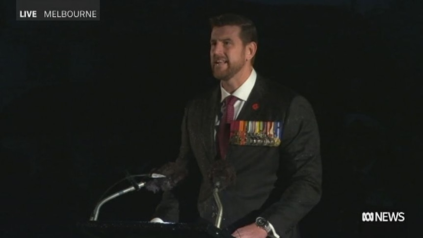 Ben Roberts-Smith at the Shrine of Remembrance