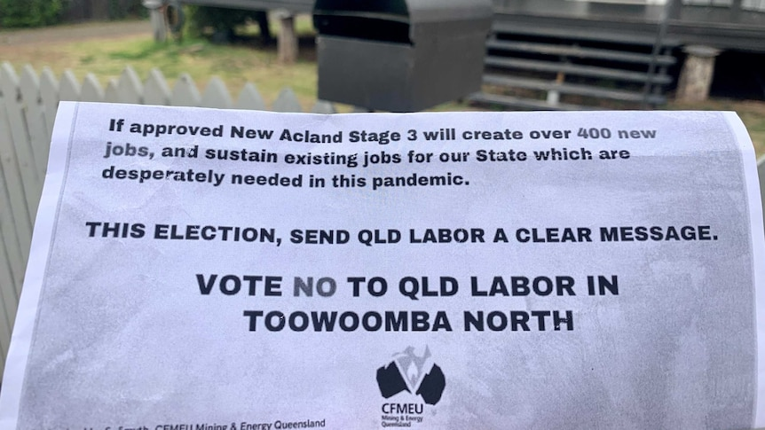 Union Campaigns Against Labor Over Failure To Approve New Acland Coal Mine Expansion Abc News
