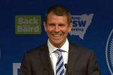 NSW Premier Mike Baird claims victory after the state election.